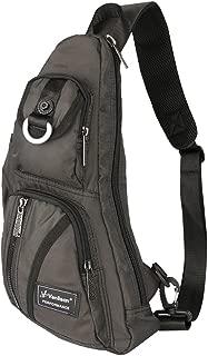 Sling Bag, Chest Bag, Vanlison Sling Backpack Shoulder Bag For Men Women Black