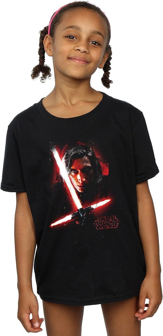 STAR WARS Girls The Last Jedi Kylo Ren Brushed T-Shirt 12-13 Years Black