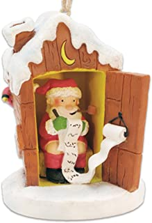 Cape Shore Santa in Outhouse Making His List Christmas Ornament