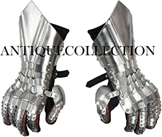 ANTIQUECOLLECTION Late Medieval Ridged Gauntlets - 18 Gauge Steel