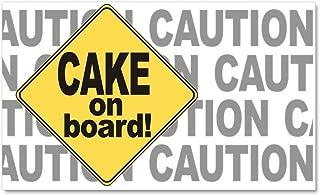 CafePress - Cake On Board - - Car Magnet, 20