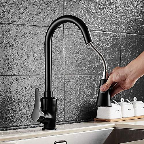 Jueven 360 Pull-artige Wasserhahn kann gedreht Werden Europäische Kupfer Becken Wasserhahn Heiße und kalte Wasserhahn Pull-Art Küchenhahn Waschbecken Mischbatterie Einhand-Hahn