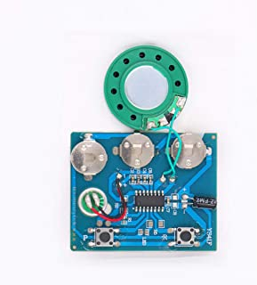 Button Activated Voice Recorder Sound Chip Module with MIC Recordable Button Cell Battery Powered for DIY Birthday Christmas Greeting Card Musical Audio Cards Gift Box (Button Control)