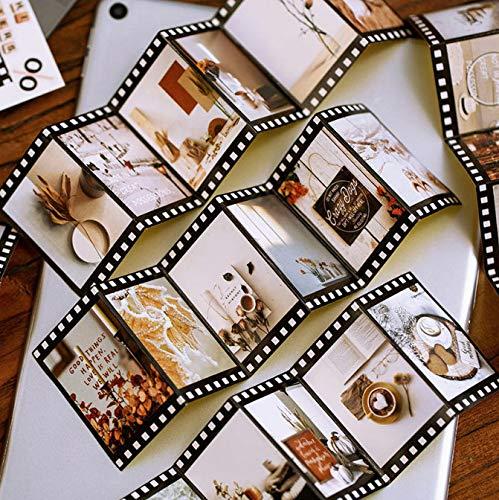 2 Pack Kawaii Memory Stickers Retro Film Decor Toys Stickers Adhesivo De Papel Para NiñOs Scrapbooking Diary Supplies (60Pcs)