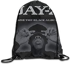AlexisW Jay-Z The Black Album Backpack Gymsack Drawstring Bags Sack Pack for Men & Women