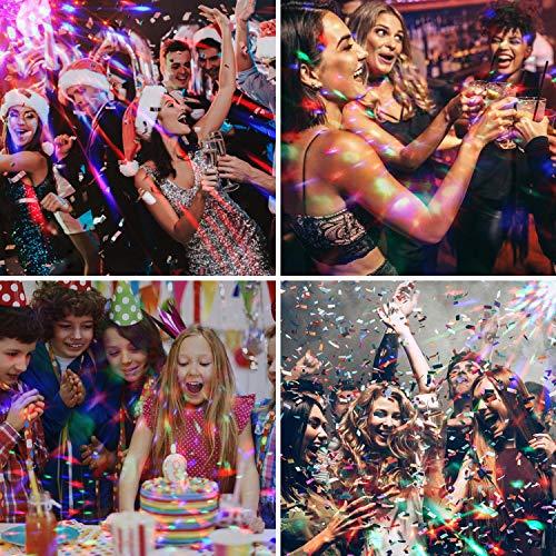 LED Discokugel Kinder OMERIL Discolicht Musikgesteuert Disco Lichteffekte RGB Partylicht, Zeitgesteuertes USB Stimmungslicht mit 7 Farben, 4 Helligkeiten und Fernbedienung für Kinder, Zimmer, Party - 6