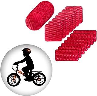 81a02d016 Muchkey Pegatinas reflexivas Impermeable Adhesivas Reflectantes para Casco de  Bicicleta Rojo
