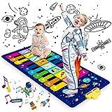 Magicfun Alfombrilla de Piano, Cielo Estrellado Alfombrilla Musical para Bebé Niños Niñas, Juguetes Educativos Alfombra Baile con 8 Instrumentos, 10 Canciones y 20 Teclas, 120 x 48 cm