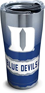 Tervis 1277170 Duke Blue Devils Knockout Stainless Steel Tumbler with Clear and Black Hammer Lid 20oz, Silver