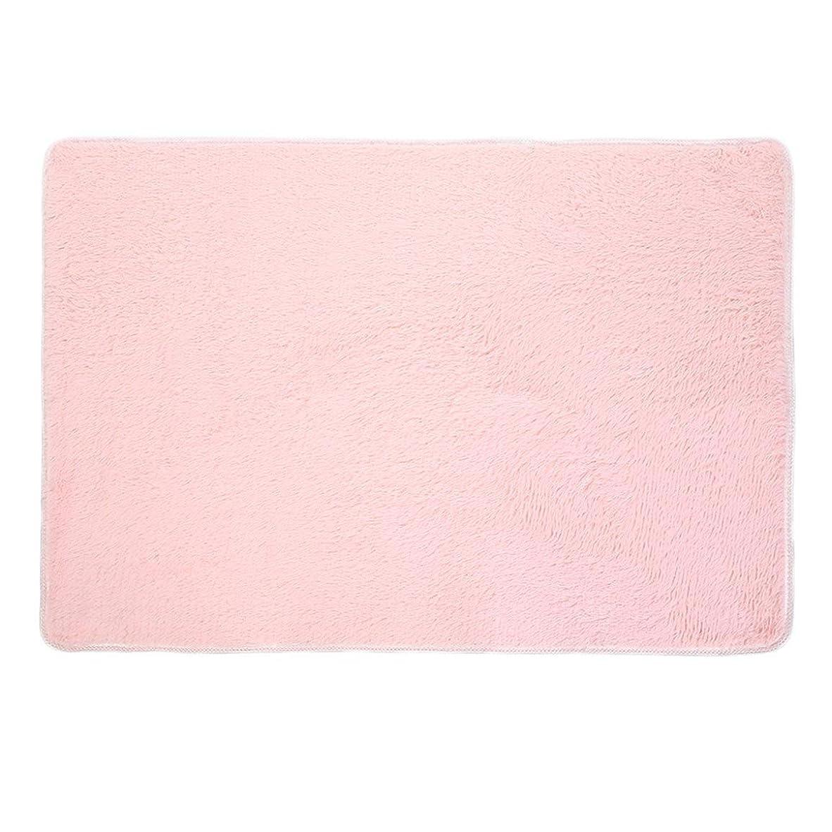 ミシン文句を言う多分ふわふわの敷物の家の居間の寝室のカーペットの滑り止めの毛むくじゃらの区域の敷物の床のマット極度の柔らかい屋内滑らかな床の敷物160x230cm-ピンク