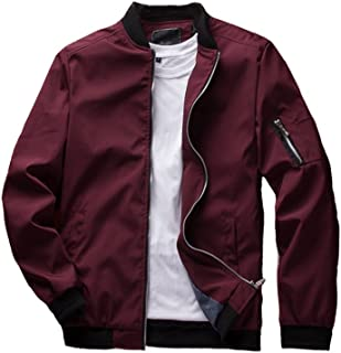 Men's Slim Fit Lightweight Sportswear Jacket Casual Bomber Jacket