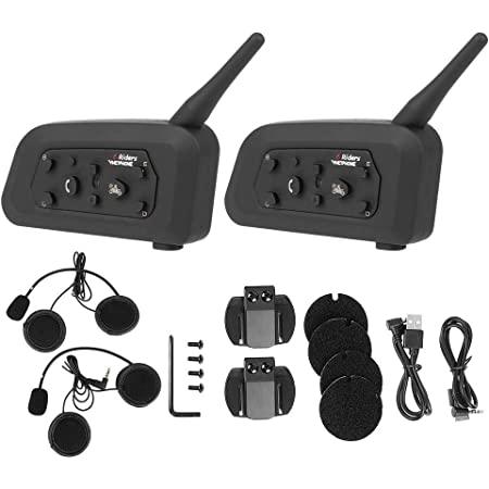 Vnetphone V6 1200 Motorrad Drahtlose Bluetooth Intercom Freisprecheinrichtung Kopfhörer Für 6 Benutzer 1000 Mt Vollduplex Schiedsrichter Walkie Talkie Auto