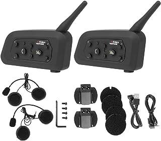 Vnetphone V6 1200 Motorrad Drahtlose Bluetooth Intercom Freisprecheinrichtung Kopfhörer für 6 Benutzer 1000 Mt Vollduplex Schiedsrichter Walkie Talkie