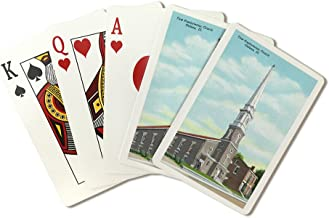 Galena, Illinois - Exterior View of the First Presbyterian Church (Playing Card Deck - 52 Card Poker Size with Jokers)