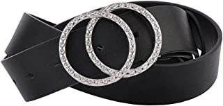 Women's Leather Belt Fashion Soft Faux Leather Waist Belts For Jeans Dress