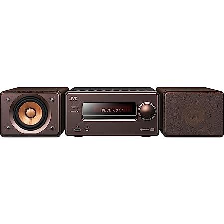JVCケンウッド EX-S55-T ウッドコーンシリーズ Bluetooth搭載 ハイレゾ音源再生 録音対応USB端子搭載 コンパクトコンポーネントシステム ブラウン