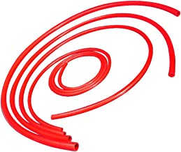 Upgr8 Universal 4mm/6mm/8mm/12mm Inner Diameter High Performance Silicone Vacuum Hose Kit (Red)