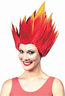 Elemental Fire Ice Spiked Wig Costume Accessory