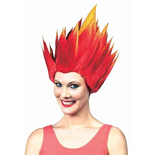 Anger Wig Anger Costume Wig Orange and Yellow Flame Wig Troll Wig
