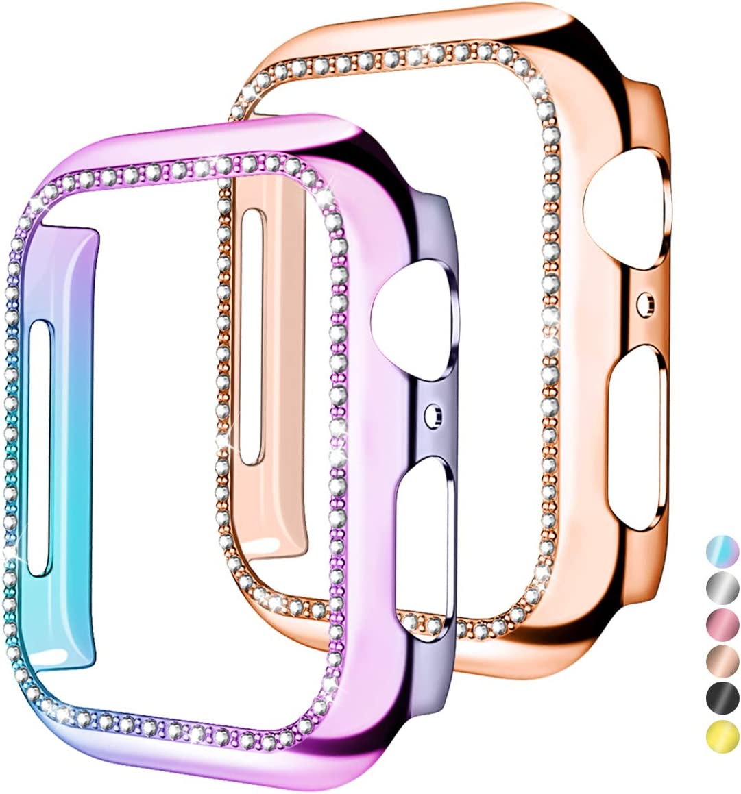 Mastten 2-Pack Case Cover Excellent Compatible Apple Blin with Watch OFFicial site 44mm