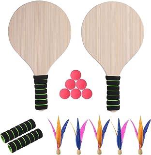 vap26 Badmintonschl/äger 1 Satz Outdoor-Spiele Kindersport Mit Federball P/ädagogisch Mit Rucksack Badminton Tennis Set Kind Baby Outdoor-Sportarten Rot