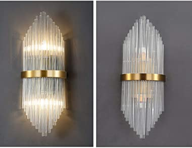 KCO Lighting Crystal Wall Sconces Luxury Gold Wall Light Elegant Wall Mount Lamp Decoration Lighting for Bedroom Living Room