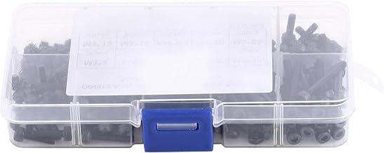 مجموعة صواميل براغي كاب متنوعة - صندوق واحد من 180 قطعة براغي 100 قطعة صواميل للتثبيت في مجموعة معدات الاتصالات المنزلية و...