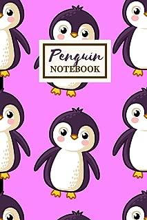 PENGUIN Notebook: Cute Journal Gift: Medium Spacing Between Lines