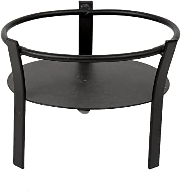 Truu Design, 5.5 inches, Small Oval Candle Holder, Black