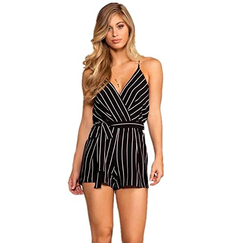 369694edbf80 DRESHOW Women Sexy Strap Backless Summer Beach Party Romper Jumpsuit