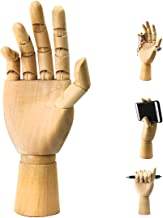Wood Art Mannequin Hand Model Statue,Sketching,Painting and More Pen Holder/Phone Holder-(Female Hand) 10 inch (Right,10 i...