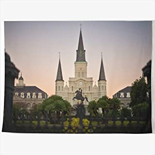 AlliuCoo Tapestry Home Decor 60 x 50 Inches Park New Orleans USA America Tapestries Wall Hangings Art for Bedroom Living Room Dorm