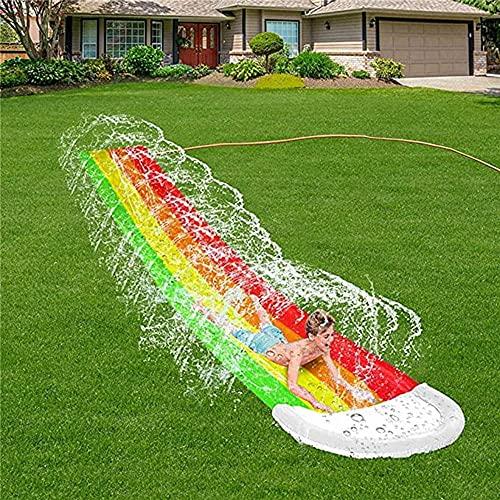 Diapositiva para carreras con almohadilla de choque inflable de servicio pesado, tobogán de agua gruesa racing resbalón deslizamiento deslizamiento inflable toque de agua para niños para niños adultos