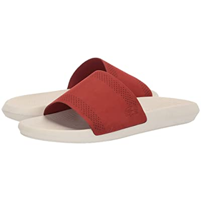 Lacoste Croco Slide 119 5 (Red/Off-White) Men