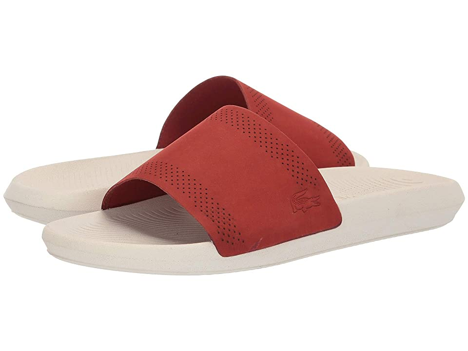 Lacoste Croco Slide 119 5 (Red/Off-White) Men