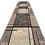 XCTLZG Alfombra moderna de pasillo con patrones geométricos, cortable, antideslizante, pasillo de entrada, varias longitudes (color: A, tamaño: 120 x 300 cm)