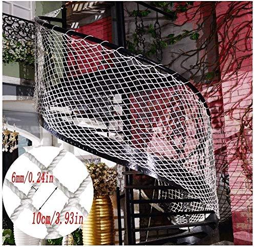 I LI WEI Protective Net Decoratie/trap, schokbestendig, net kindernet - Azië voor het balkon - bescherming van het net wit decoratief net Senna Cat Net stof voor de bescherming van de planten
