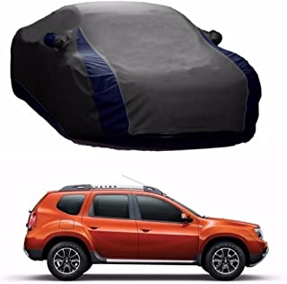 MotRoX Lively Water Resistant Car Body Cover for Renault Duster (Grey & Blue - V Shape)