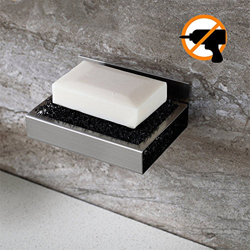 Ruicer Seifenschale Wandmontage aus Edelstahl Ohne Bohren Seifenablage Wand Badezimmer Küche Zum Kleben