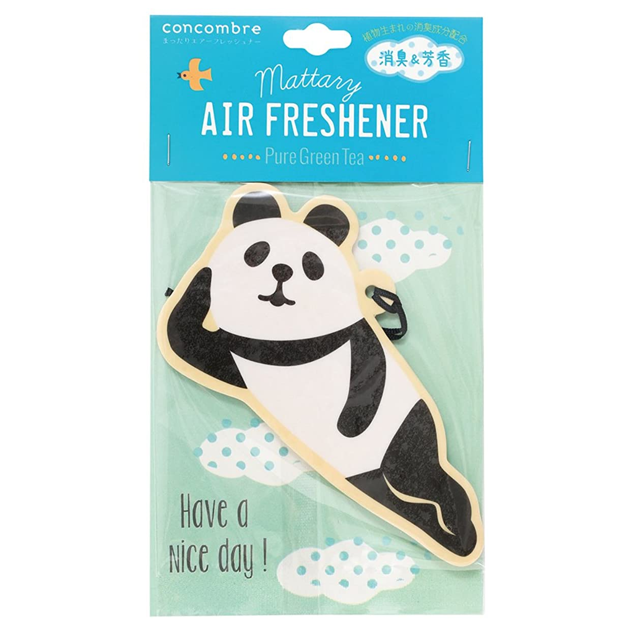 concombre 芳香剤 まったりエアーフレッシュナー 吊り下げ 消臭成分配合 グリーンティーの香り OA-DKA-5-4