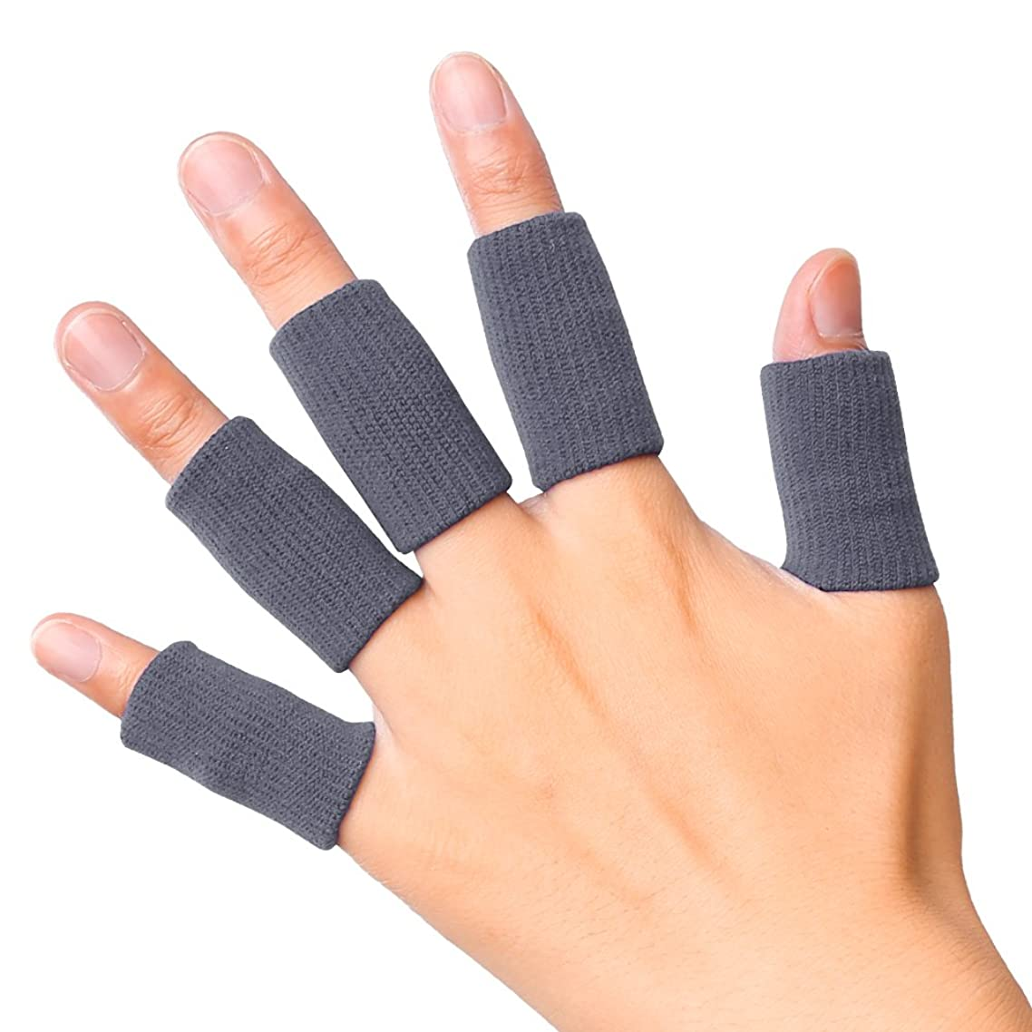 JBM Adult Finger Brace Splint Sleeve Thumb Support Protector Soft Comfortable Cushion Pressure Safe Elastic Breathable Stabilizers for Basketball Volleyball Baseball Badminton Tennis Boating Gym