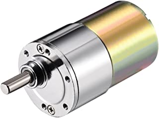 uxcell 12V DC 10RPM Gear Motor High Torque Electric Micro Speed Reduction Geared Motor Eccentric Output Shaft