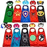 NuGeriAZ Superhero Capes for Kids-Superhero Costumes for Boys Superhero Capes for Kids Dress up 4-10 Year Old Boy Gifts 5PCS