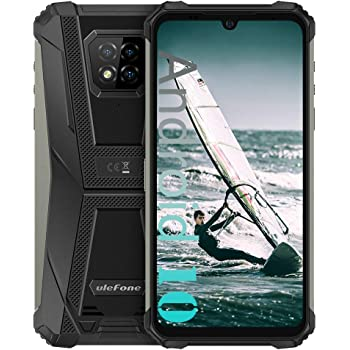 "Ulefone Armor 8 Rugged Phones Unlocked (2021), Helio P60 Octa-core 4GB + 64GB Android Phone Unlocked, 16MP Triple Rear Camera + 8MP Front Camera, 6.1"" HD+ 5580mAh Battery Global 4G Unlocked Smartphone"