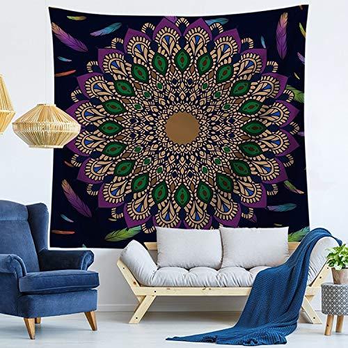 WERT Tapices para Colgar en la Pared Tapiz de Mandala Indio Tai Chi Hippie Bohemio Alfombra de Pared Decorativa Esteras de Yoga A9 200x180cm