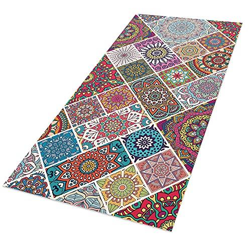 Alfombra Vinílica, 40 x 80 cm, Mandala, Multicolor, ALV-081