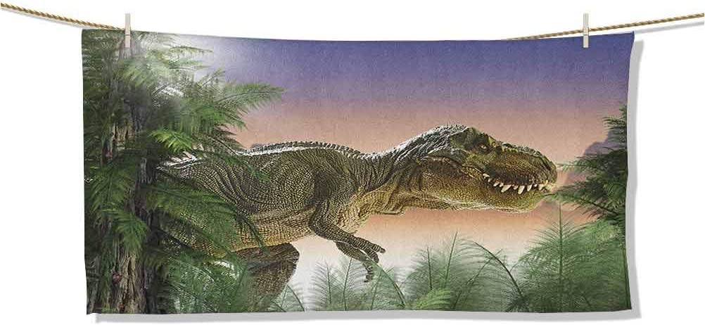 Baby Bath Towel Dinosaur in The Forest Nature 5 Mail order popular Woods Jungle Trees