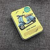 YYBF Aufbewahrungsbox Bin Sealed Jar Verpackungsboxen Schmuck Pralinenschachtel Kleine Aufbewahrungsboxen Dosen Münzen Organisation 92x67x26 mm, Vespa, 92x67x26mm