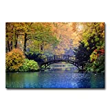 Product Size: 24x36inches High Definition Giclee modern art work, picture photo printing on high quality canvas. Vivid Colors of Arts Would Brighten Your Walls. Stretched and Framed canvas print. Each panel has a black hook already mounted on the woo...