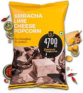 4700BC Gourmet Popcorn, Sriracha Lime Cheese, Pouch, 150g (Pack of 2)